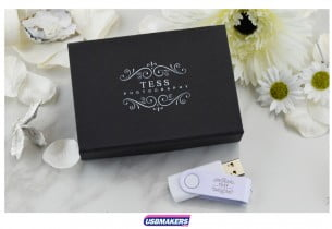 Black Magnetic Flip USB Gift Box 1