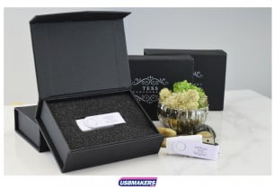 Black Magnetic Flip USB Gift Box 4