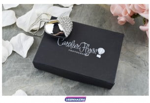 Black Magnetic Flip USB Gift Box 6