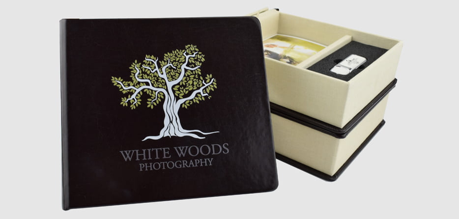 Book Style USB Drive Photo Prints Gift Box