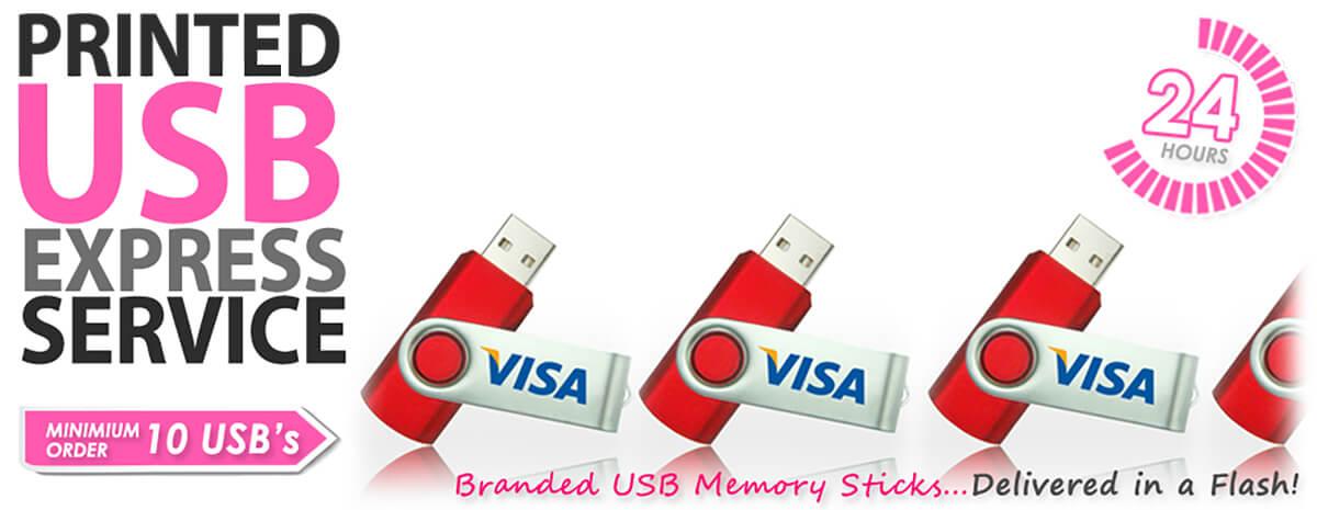 Logo Branded USB Express Service