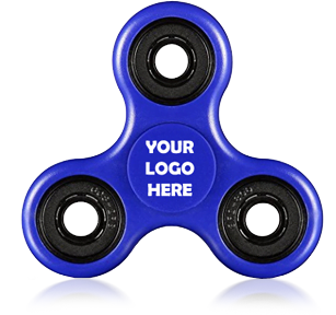 Blue Logo Printed Fidget Spinners