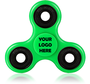 Green Logo Printed Fidget Spinners