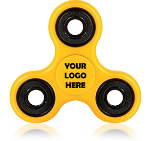 Yellow Logo Printed Fidget Spinners