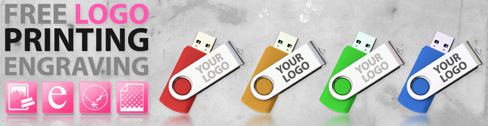 Free Logo Printing onto USB Drives