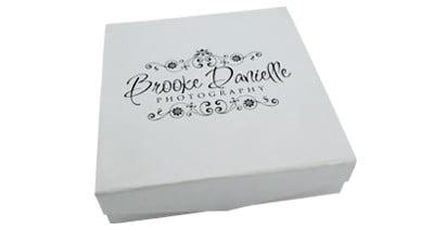 White Magnetic Flip USB & Photo Prints Gift Box