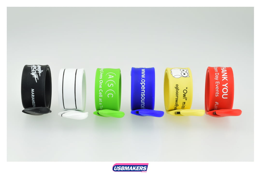 Snap On Wristband Usb Memory Drive 2