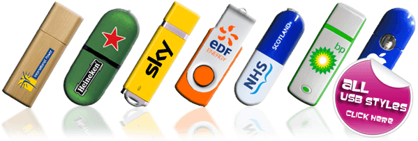 All Logo Printed USB Styles