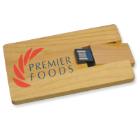 Logo Branded Wooden Card USB