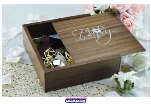Dark Wooden Photo Print USB Gift Box 3