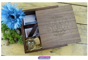 Dark Wooden Photo Print USB Gift Box 4