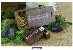 Dark Wooden Slide Gift Box