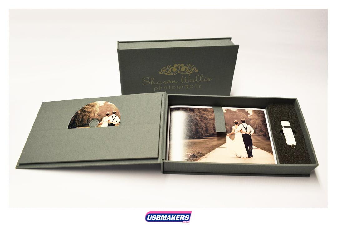 Wedding Photography Presentation Boxes: Elegant USB CD DVD Photo Print Presentation Box