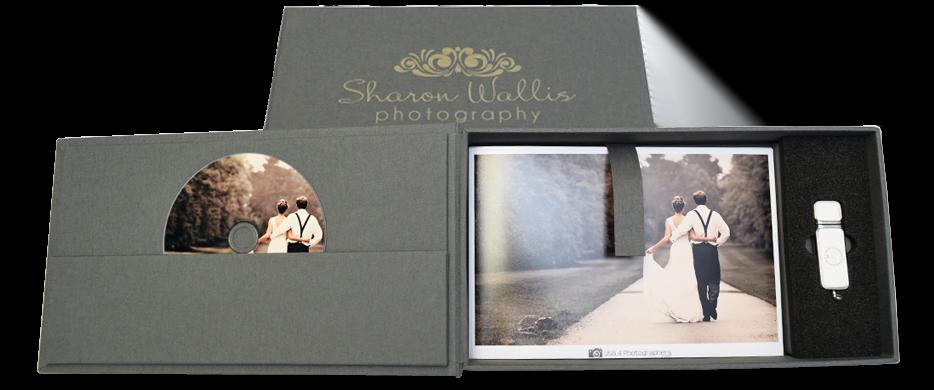 Elegant USB CD DVD Photo Presentation Box