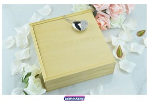 Light Wooden Photo Print USB Gift Box 3
