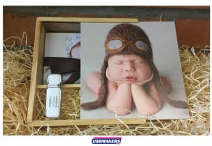 Light Wooden Photo Print USB Gift Box 4