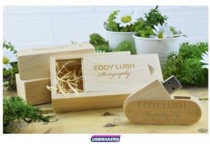 Light Wooden Slide Gift Box
