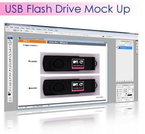 Promotional USB Flash Drive Mock Up