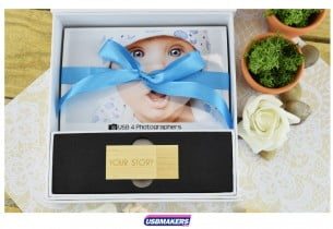 White Magnetic Photo Print USB Gift Box USB Makers 2