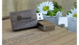 Wooden Block USB Drive - Dark Wood