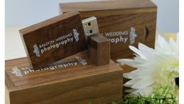 Wooden Block USB Drive - Light Wood 4