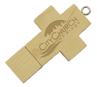 Wooden Cross USB Drive