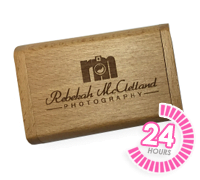 Flip Wooden USB Box