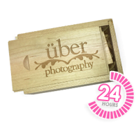Wooden Slide USB Box