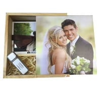 Wooden USB Slide Photo Box