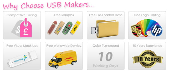 UFO Style USB Makers Services